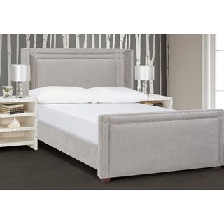Jennifer Taylor Elle Wingback Upholstered Bed