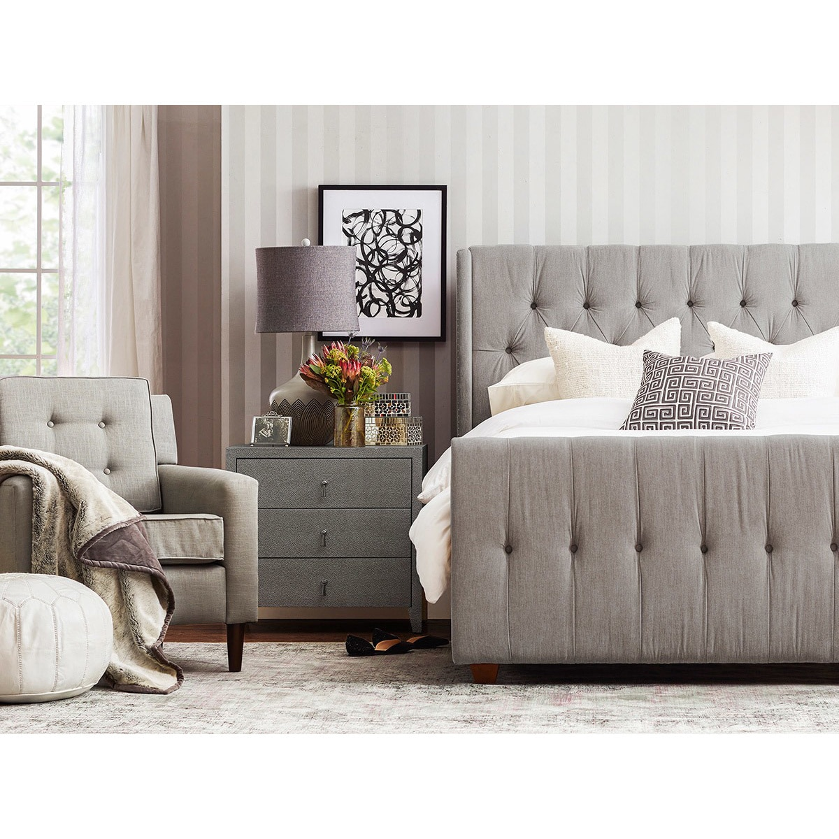 Shop Gracewood Hollow Follett Tufted Wingback Upholstered