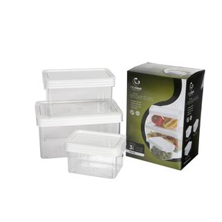 Click Clack Kitchen Essentials Small Airtight Canisters 3-piece Set