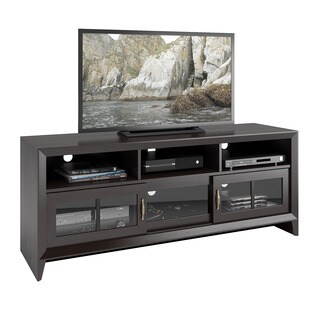 CorLiving TEH-506-B Carlisle Mocha Black 59-inch TV Bench