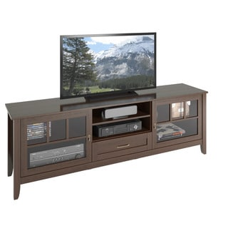 CorLiving TEH-694-B Carlisle Extra Wide Espresso TV Bench (Up to 80 inches)