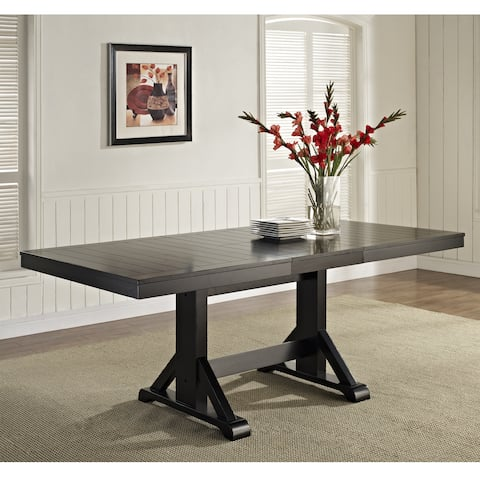 "60"" Wood Dining Table - Antique Black - 60-77 x 40 x 30H"
