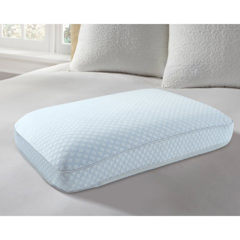 Arctic Sleep Big and Soft Ventilated Cooling Gel Memory Foam Pillow - WHITE