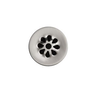 Premier Copper Products 1.5-inch Non-Overflow Grid Bathroom Sink Drain - Brushed Nickel