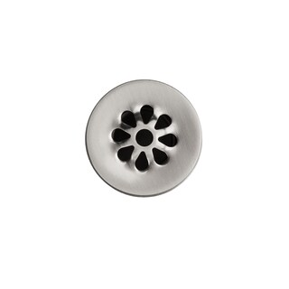 Premier Copper Products 1.5-inch Non-Overflow Grid Bathroom Sink Drain - Brushed Nickel - Silver