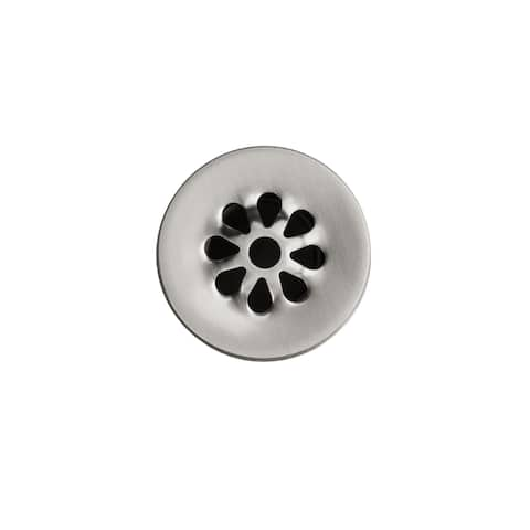 "Handmade 1.5"" Non-Overflow Brushed Nickel Grid Bathroom Sink Drain (Mexico)"