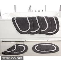 Reversible Cotton 17 x 24-inch Bath Rugs (Set of 6) - 17 x 24
