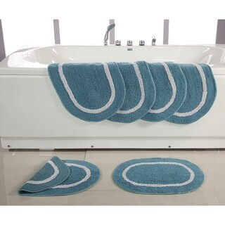 Reversible Cotton 17 x 24-inch Bath Rugs (Set of 6)