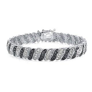 DB Designs 1ct TDW Black or Blue, and White Diamond Bracelet|https://ak1.ostkcdn.com/images/products/10139164/P17276261.jpg?_ostk_perf_=percv&impolicy=medium