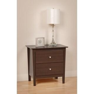 Espresso Manhattan 2-drawer Nightstand
