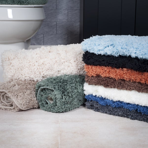 Windsor Home 3 Piece Plush Non Slip Bath Rug Set