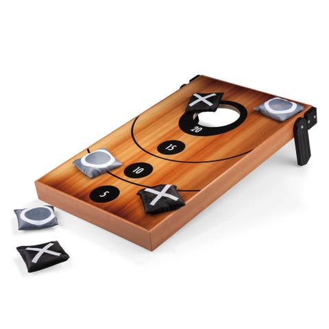 Picnic Time Mini Bean Bag Throw with Bean Bag Toss and Tic-Tac-Toe Designs