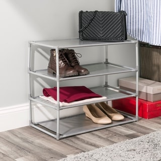 type: Laundry Room Organizers · Home Basics Free-Standing Non Woven 4-Tier Shoe Rack