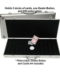 Royal Suited 650-piece Poker Chip Set with Aluminum Carrying Case - Thumbnail 2