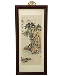River Cottage Watercolor Wall Hanging (China)