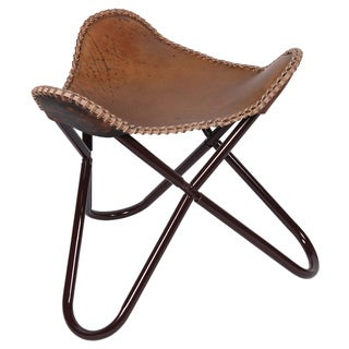BUTTERFLY STOOL / FOOT REST ANTIQUE BROWN