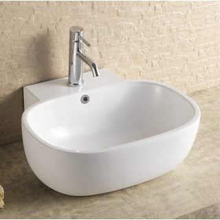 Acquatech Latitude 21-inch Oval Deep Ceramic Sink