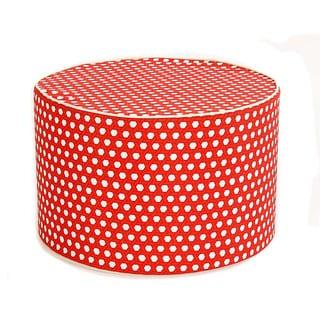 Lanyard Red Round Ottoman