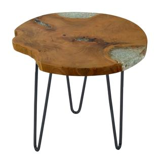 Decorative Blakely Brown Wooden Round End Table
