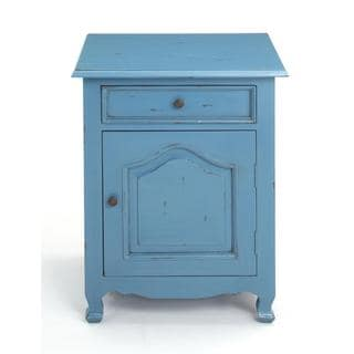 Decorative Booneville Blue Square Side Table
