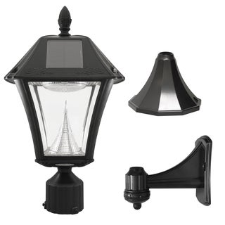 Gama Sonic Baytown II Solar Outdoor LED Light, Multiple Mounting Options