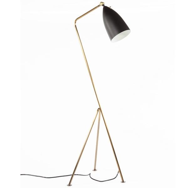 Hans Andersen Home Grasshopper Style Brass Floor Lamp