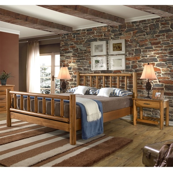 Shop Timber Creek Bedroom Set Queen Bed And Two Nightstands Free Shipping Today Overstock