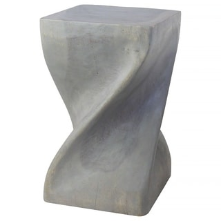 Big Twist Agate Grey Oil Stool (Thailand)