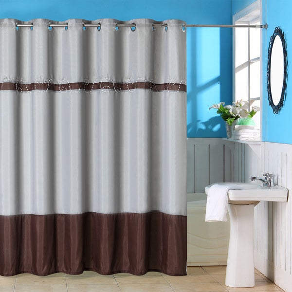 Windsor Home Sheila Embroidered Shower Curtain with Grommets