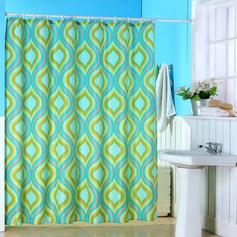 Windsor Home Geometric Spring Dew Drops Multicolor Shower Curtain - Multi