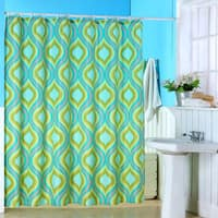 Windsor Home Geometric Spring Dew Drops Multicolor Shower Curtain
