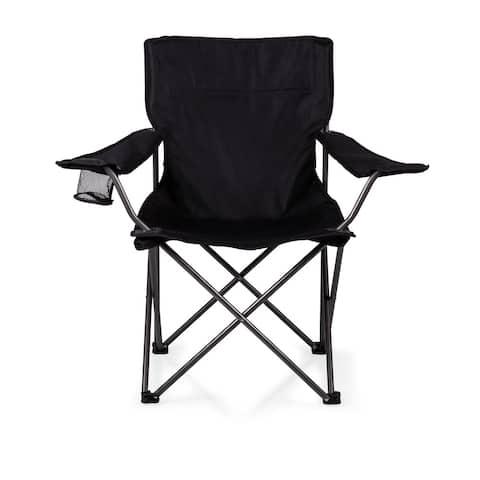 Picnic Time PTZ Black Camp Chair