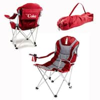 Picnic Time Red Coca-Cola Reclining Camp Chair