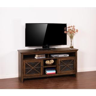Sunny Designs Savannah Walnut and Poplar TV Console