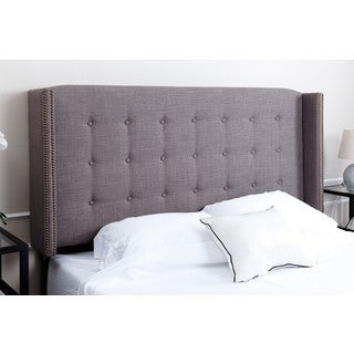 ABBYSON LIVING Parker Tufted Grey Linen Queen/ Full Headboard