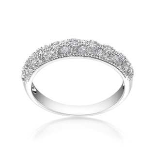 SummerRose 14k White Gold 1/4ct TDW Diamond Fashion Ring