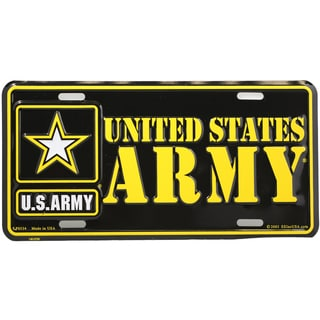 US Army Logo License Plate