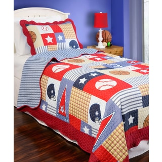Slumber Shop Sports Arena Reversible 3-piece Quilt Set