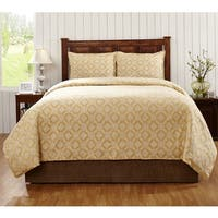 Martina Linen 3-Piece Duvet Set