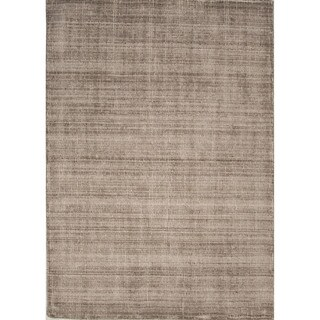 Solids/ Handloom Solid Pattern Feather gray/Feather gray Wool (5.3x7.6) Area Rug