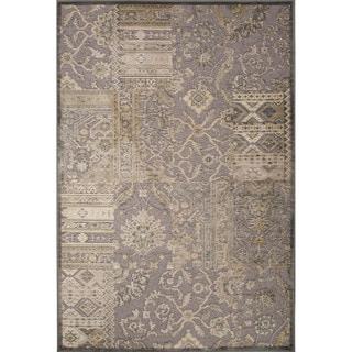 Machine Made Oriental Pattern Neutral gray/Fog Chenille (5.3x7.8) Area Rug