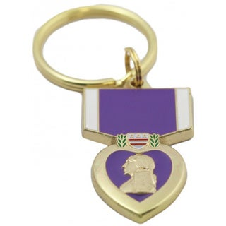 Purple Heart Key Ring