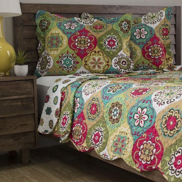 Slumber Shop Lena 3-piece Reversible Quilt Set