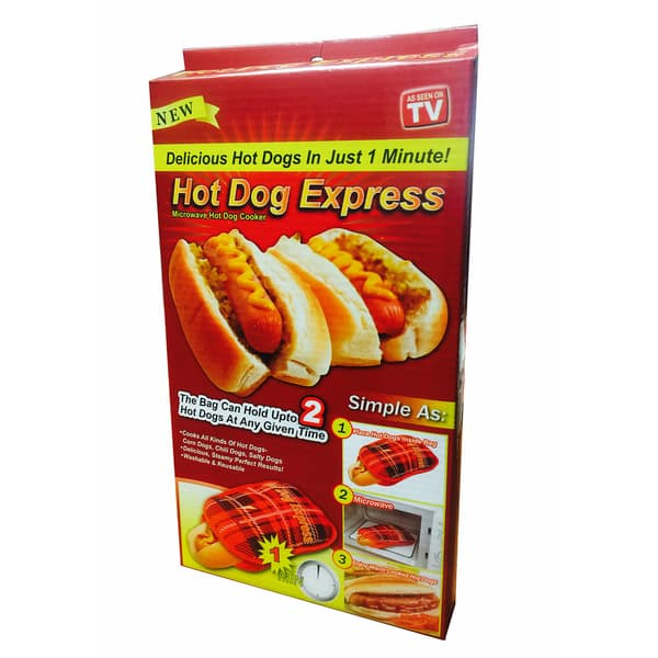 As Seen On Tv Hot Dog Express 2 Piece Microwave Pocket