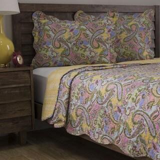 Slumber Shop Kiera Pink 3-piece Reversible Quilt Set
