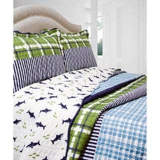 Slumber Shop Royce Plaid 3-piece Reversible Quilt Set