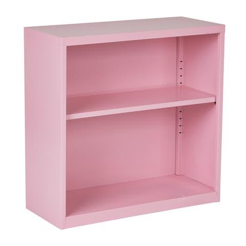 "OSP Home Furnishings 28"" Fun Color Metal Bookcase"