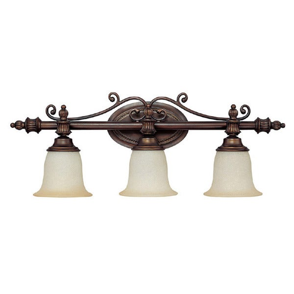 Capital Lighting Transitional 3-light Burnished Bronze Bath/Vanity Light