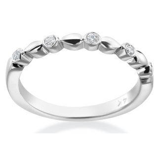 SummerRose 14k White Gold 1/8ct TDW Diamond Fashion Band