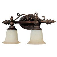 Capital Lighting Transitional 2-light Burnished Bronze Bath/Vanity Light